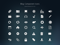 Blog Component Icons