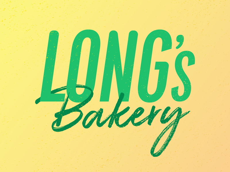 Long's Bakery Logo indianapolis indy bakery donuts donut typography logo illustration identity branding vector design