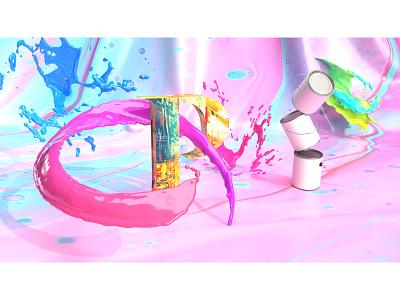 Paint 36daysoftype 36dayoftype 3d art 3d dimension identity branding design paint