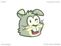 Twitchy Rabbit Logo (30 Day Logo Challenge)