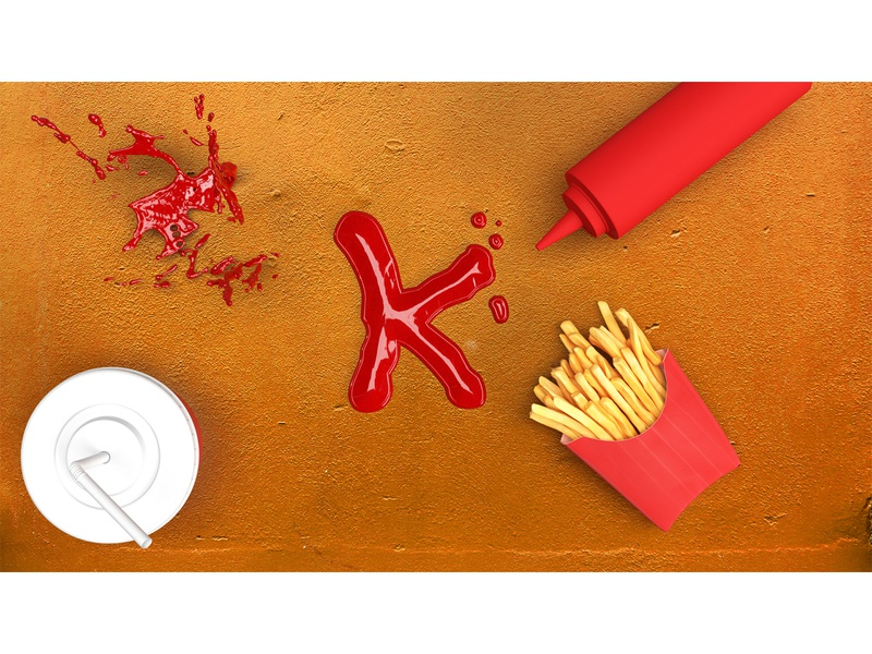 Ketchup ketchup 3d art 3d design typography 36daysoftype