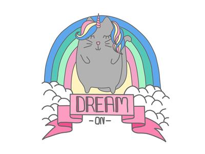 Unicorn Cat paint tool sai illustration cartoon beginner krita pastel unicorn cat