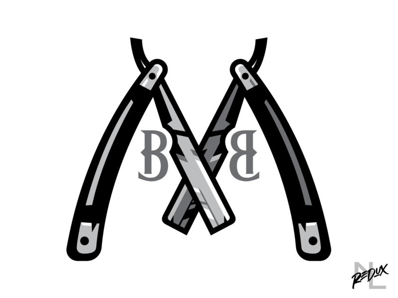 Memphis Barber Boys sharp razor negro league branding concept logo baseball sports barbershop barber memphis
