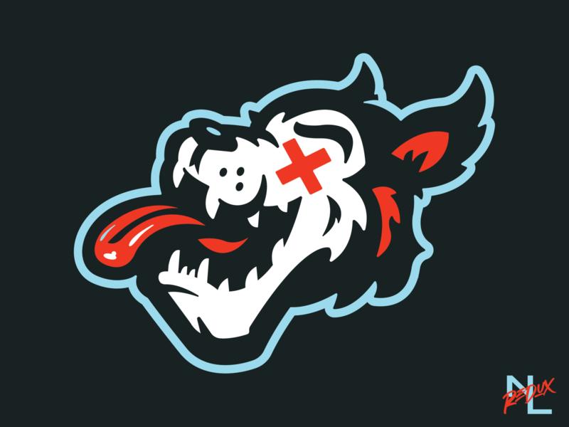 Detroit Wolves streetart negro league detroit wolves wolf concept illustration logo baseball sports