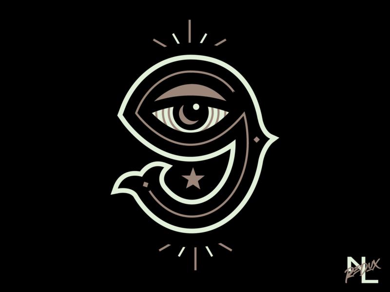 NOLA/Armstrong Secret 9 eye number nola new orleans 9 branding concept logo baseball sports
