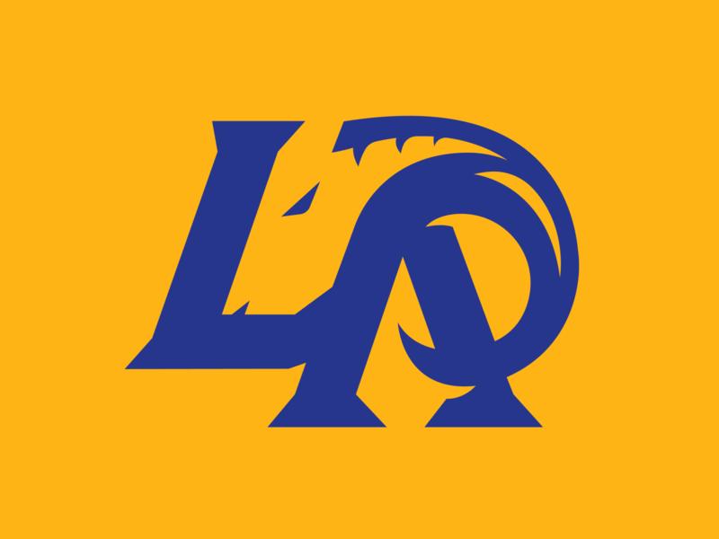 LA Rams Concept letterform gold design branding sports concept football rams los angeles