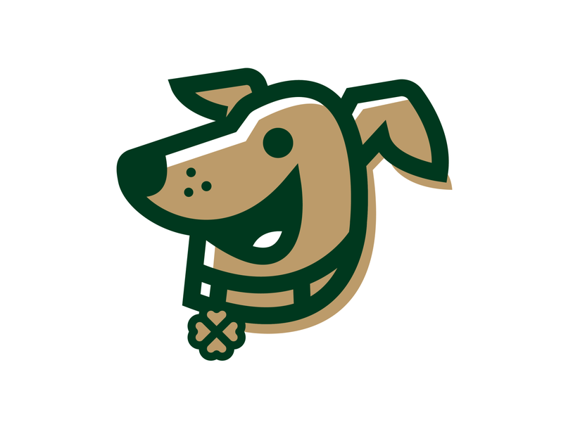 Lucky's Pet Services clover four leaf clover vector branding design illustration pet dog lucky