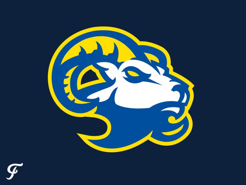 LA Rams Ram mascot horns branding logo sports nfl los angeles rams los angeles ram