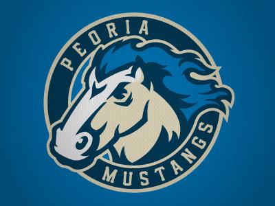 Peoria Mustangs (NA3HL) peoria mustangs hockey logo horse