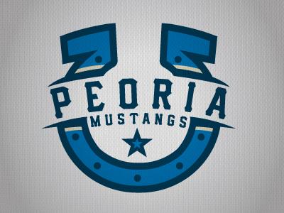 Peoria Mustangs Wordmark/Secondary (NA3HL) peoria mustangs hockey logo wordmark