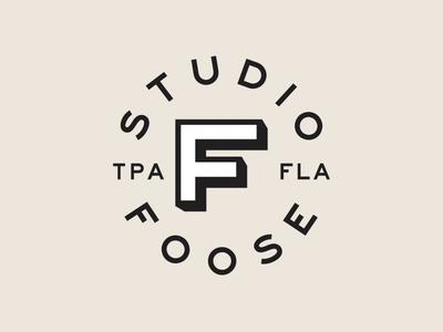 Studio Foose logo branding typography badge design tampa studio