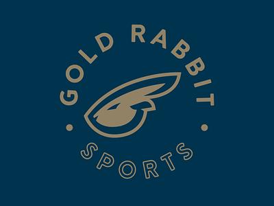 Gold Rabbit Sports sport vintage minimalist design branding logo sports icon gold rabbit