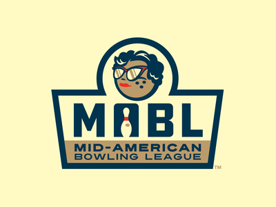 Mid-American Bowling League typography vector pin bowling ball american midwest retro bowling design branding logo sports