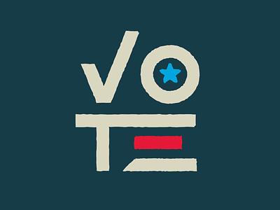 VOTE! design illustration election star check vote