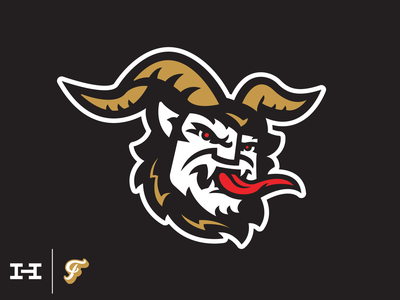 Krampus - Hat Club hat vector design branding logo sports folklore demon devil christmas krampus hat club