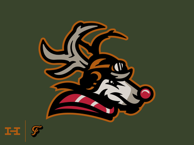 Hat Club - Red Nose Barons baron christmas santa pilot wwii rudolph deer reindeer hat hat club design branding logo sports