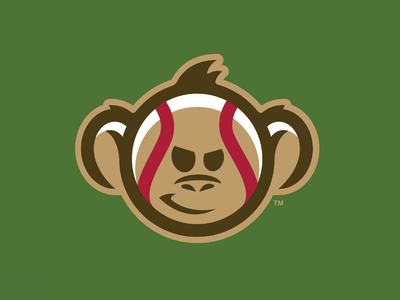 Monkey Baseball wise mascot illustration branding sports baseball monkey