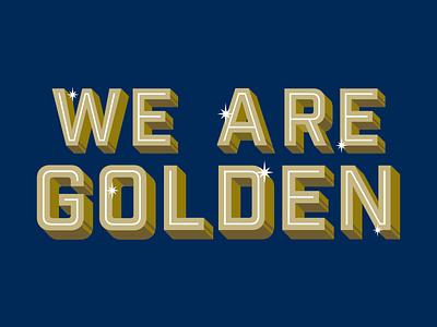 24K sparkle lettermark type illustration design gold