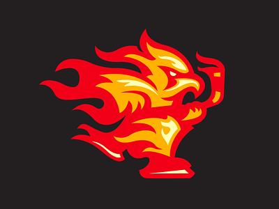 Atlanta Hotshots (Hat Club) hat club hockey flames atl atlanta illustration design branding logo sports