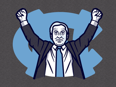 Roy Williams Retirement Fanatics illustration apparel fanatics tarheel coach basketball north carolina unc roy williams
