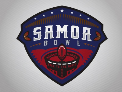 Samoa Bowl samoa bowl football sports logo tribal
