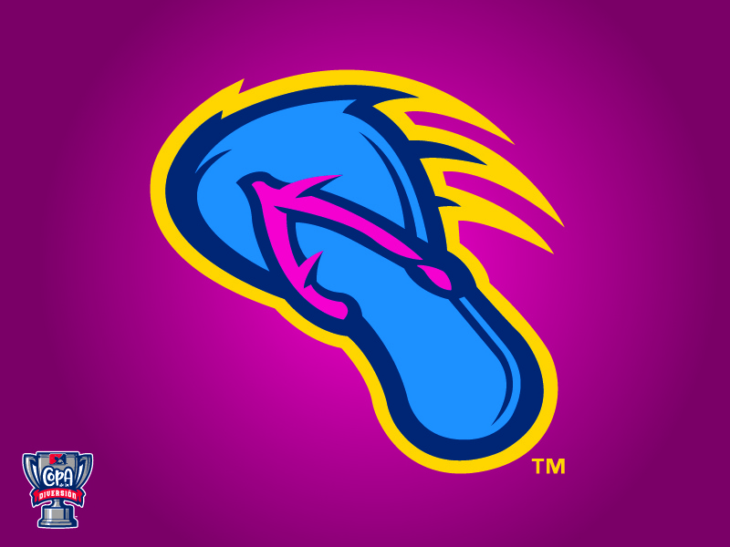 San Antonio Flying Chanclas (MiLB) logo baseball sports copa milb sandal antonio san