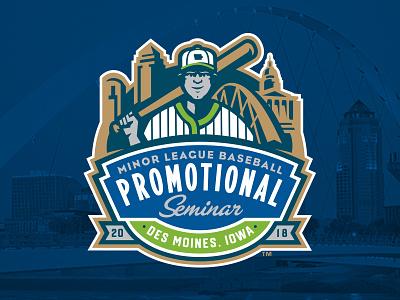 2018 MiLB Promo Seminar badge skyline iowa des moines baseball promo