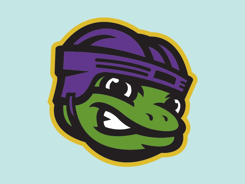 Black Swamp Ice Frogs Hockey ice sports helmet hockey frog