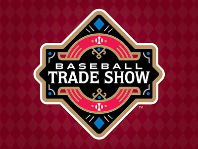 2018 Baseball Trade Show mlb milb ribbon diamond vegas show trade baseball