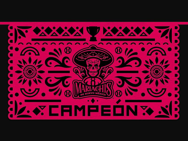 2018 Copa Campeón champion trophy skull papel picado paper milb logo baseball sports