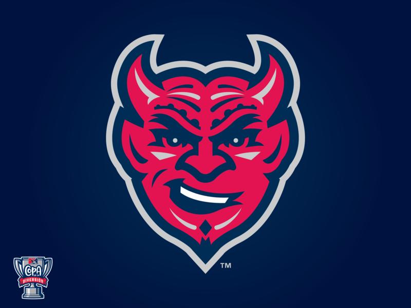 Demonios de Des Moines (Iowa-MiLB) pattern copa milb logo baseball sports iowa devil demon