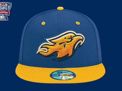 Rápidos de Kannapolis (MiLB) fire bird phoenix copa milb logo baseball sports