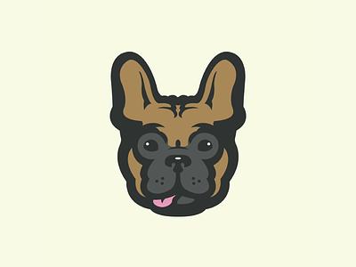 Lou the Frenchie logo tongue bulldog french bulldog frenchie