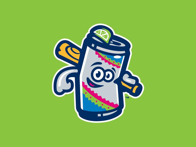 Cervezas de Durham bat logo sports copa can durham lime beer can beer baseball milb
