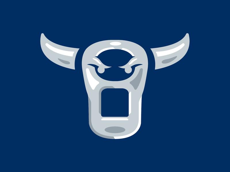 Cervezas de Durham - Bull Tab metal bull pull tab copa milb logo baseball sports
