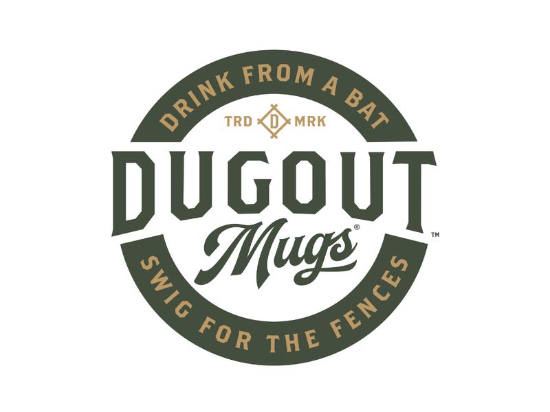 Dugout Mugs Rebrand beer mug dugout design bat logo baseball sports