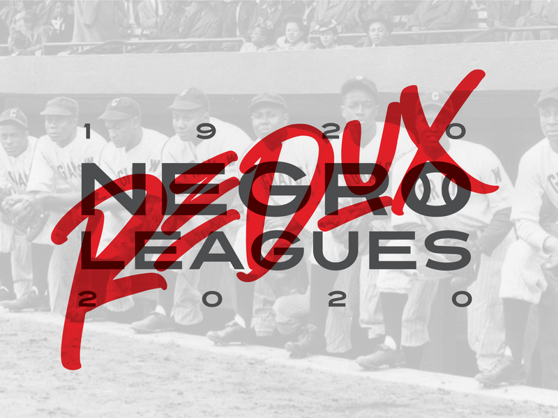 Negro Leagues Redux graffiti bat sports logo branding design concept baseball
