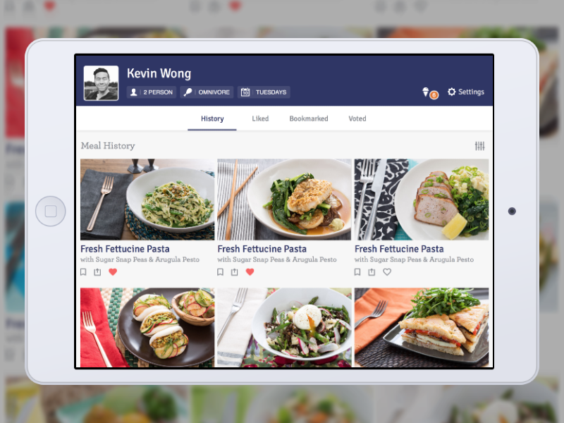 Blue Apron Profiles for fun mobile concept app ui ios ipad blue apron