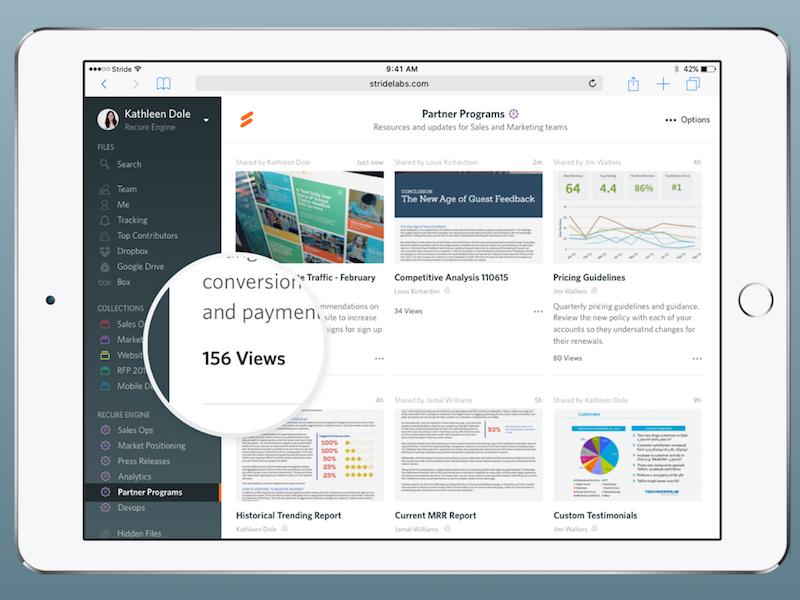 Stride for Web enterprise collaboration dashboard files web mobile