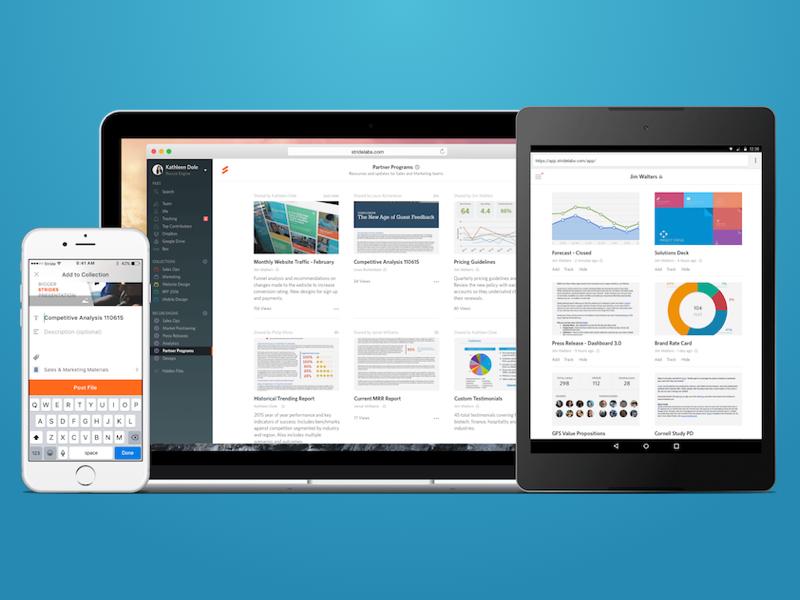 Stride for Teams responsive ios web mobile file sharing collaboration teams enterprise business