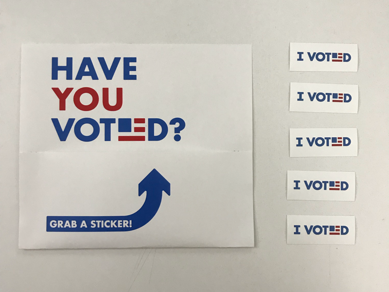 picture about I Voted Stickers Printable called I Voted Stickers by means of Zach Magnuson upon Dribbble