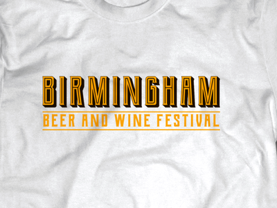 Birmingham Beer & Wine Logo design adobe illustrator adobe photoshop branding typogaphy logo