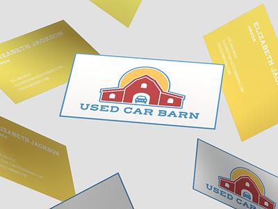 Used Car Barn Logo design branding adobe photoshop adobe illustrator typogaphy logo