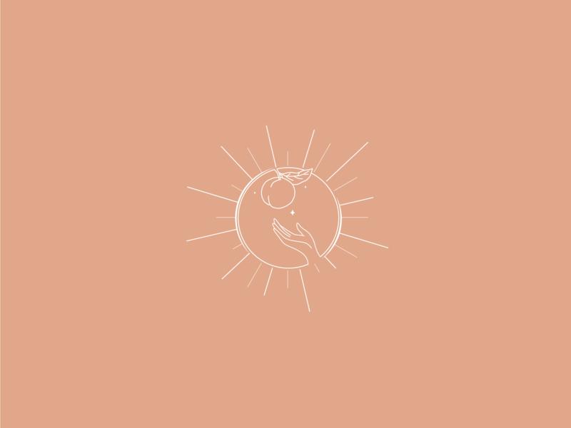 Living Peach Kombucha Concept elegant logo minimal design feminine design logo design branding brand design branding brand mark mark peachy color palette logo design concept logo design