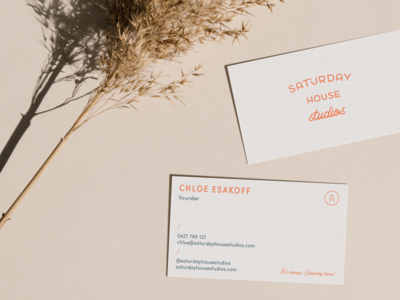 Saturday House Studios Business Card