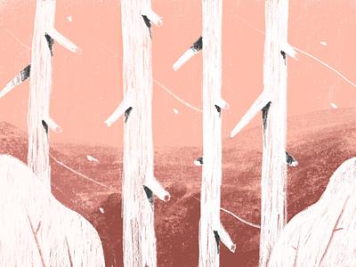 Phone doodle pink cold wind autumn nature leaves leaf brush trees tree
