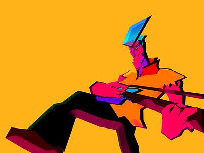 Guitar Dude character guitar player guitar character concept character design character animation illustration