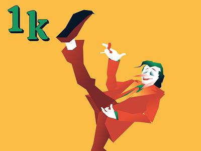 We are all joking and dancing gradient design vector character design joker movie character joker illustration