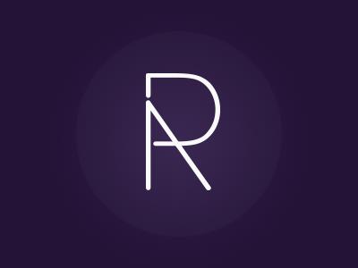 Monogram (D, A, & R) monogram purple logo line