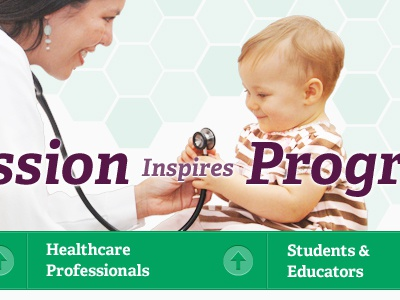 Clinical Feature green purple hexagon child navigation medical clinic doctor